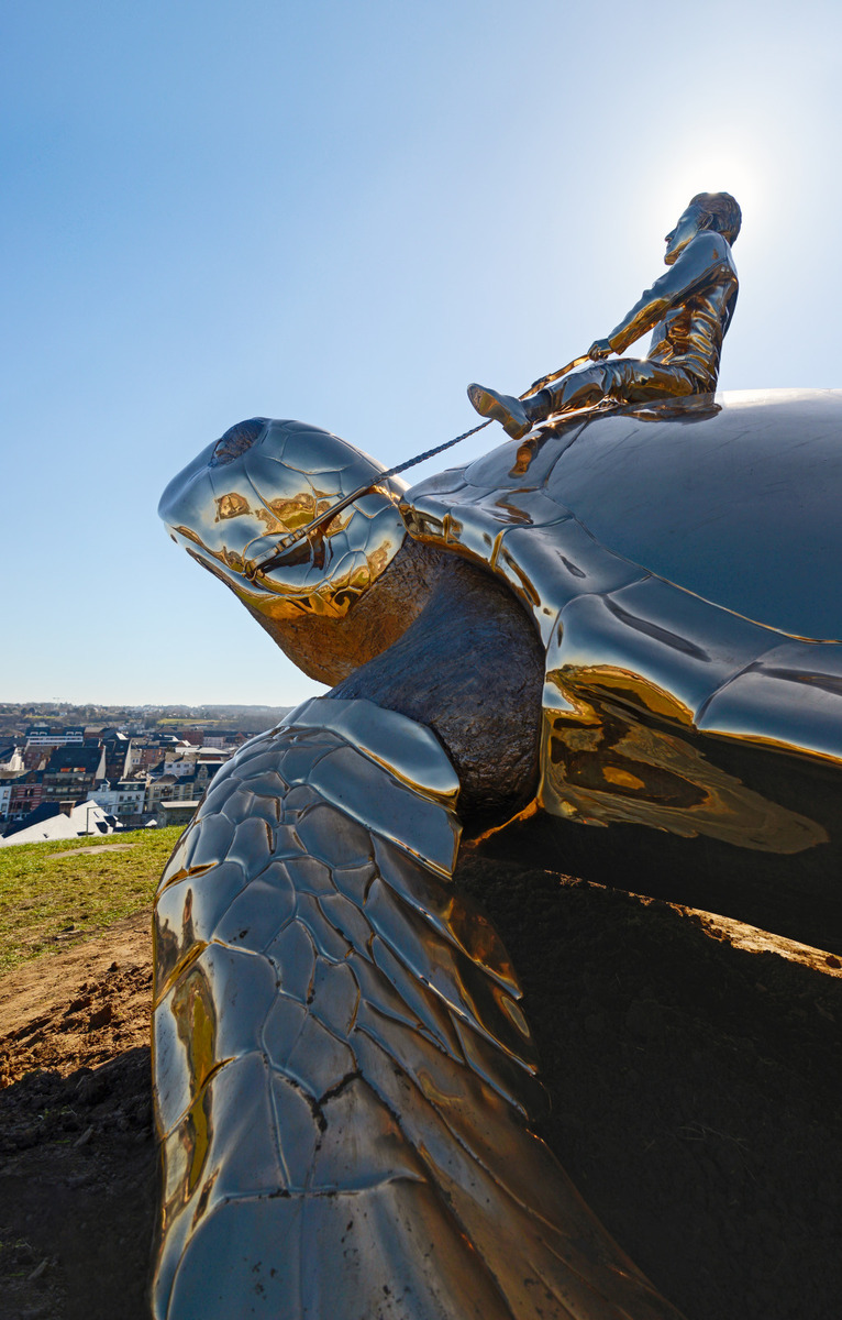 Sculpture of turtle at the Citadel of Namur - Sculpture by Jan Fabre