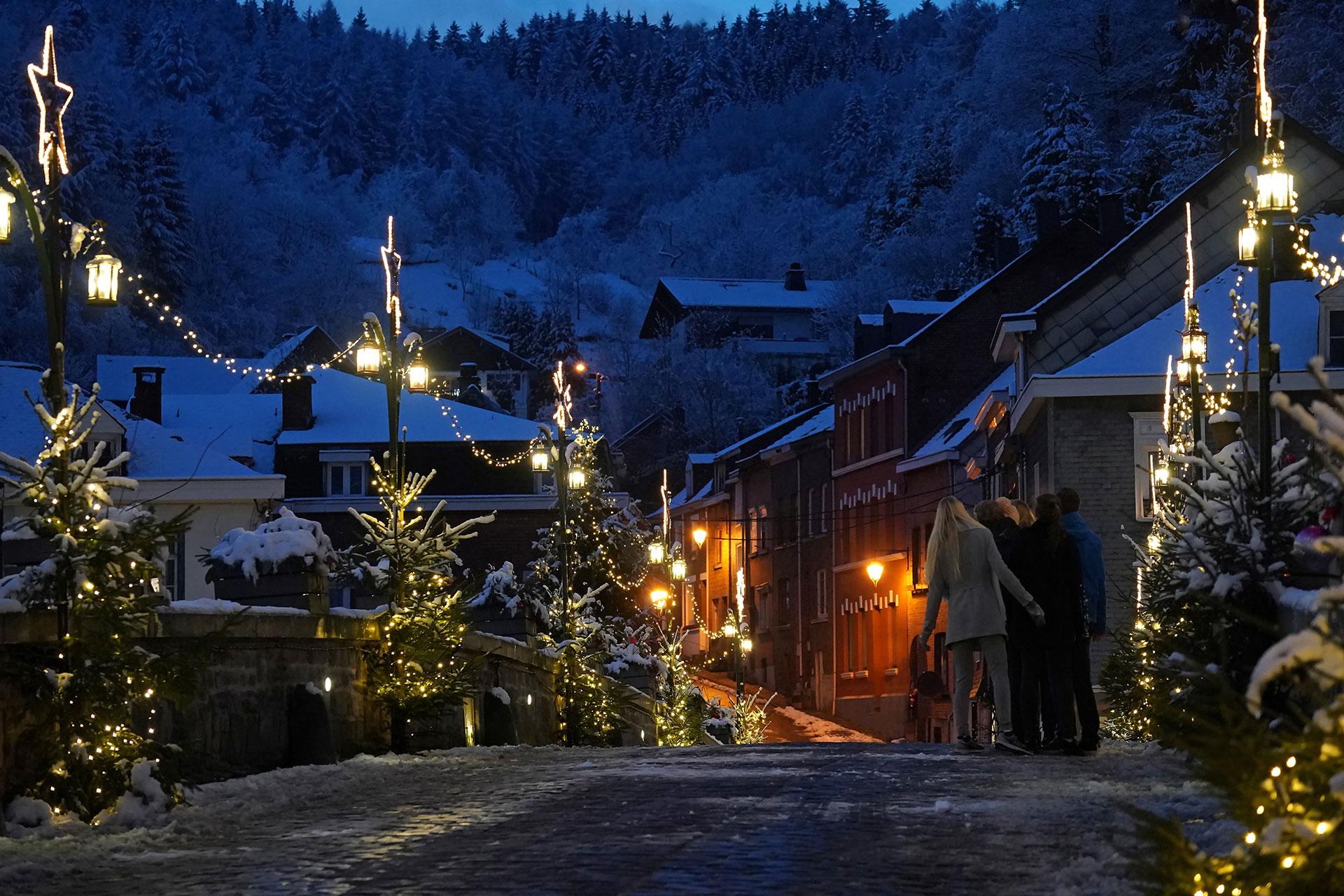 Malmedy - neige - nuit