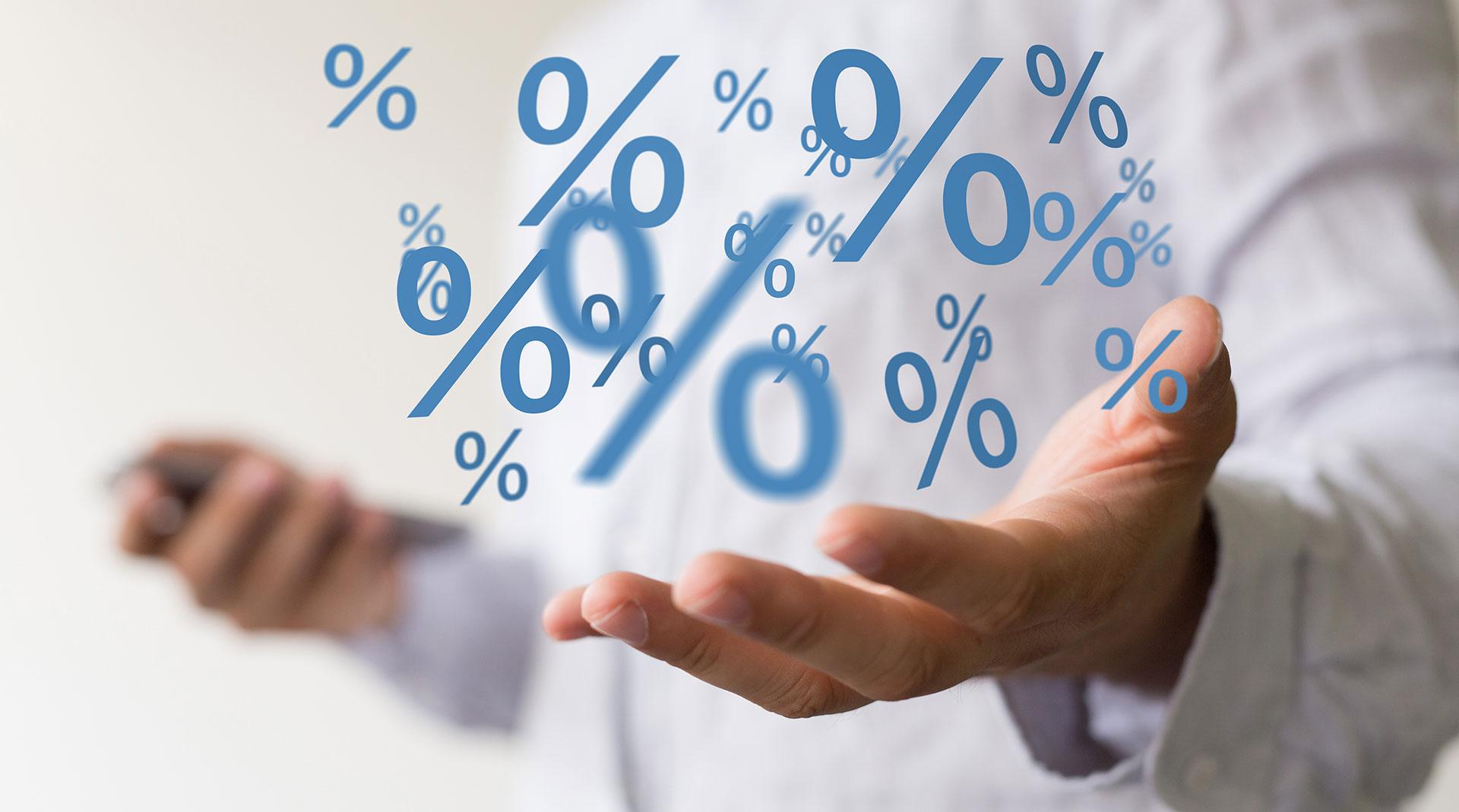 Bons - réduction - pourcentage - %