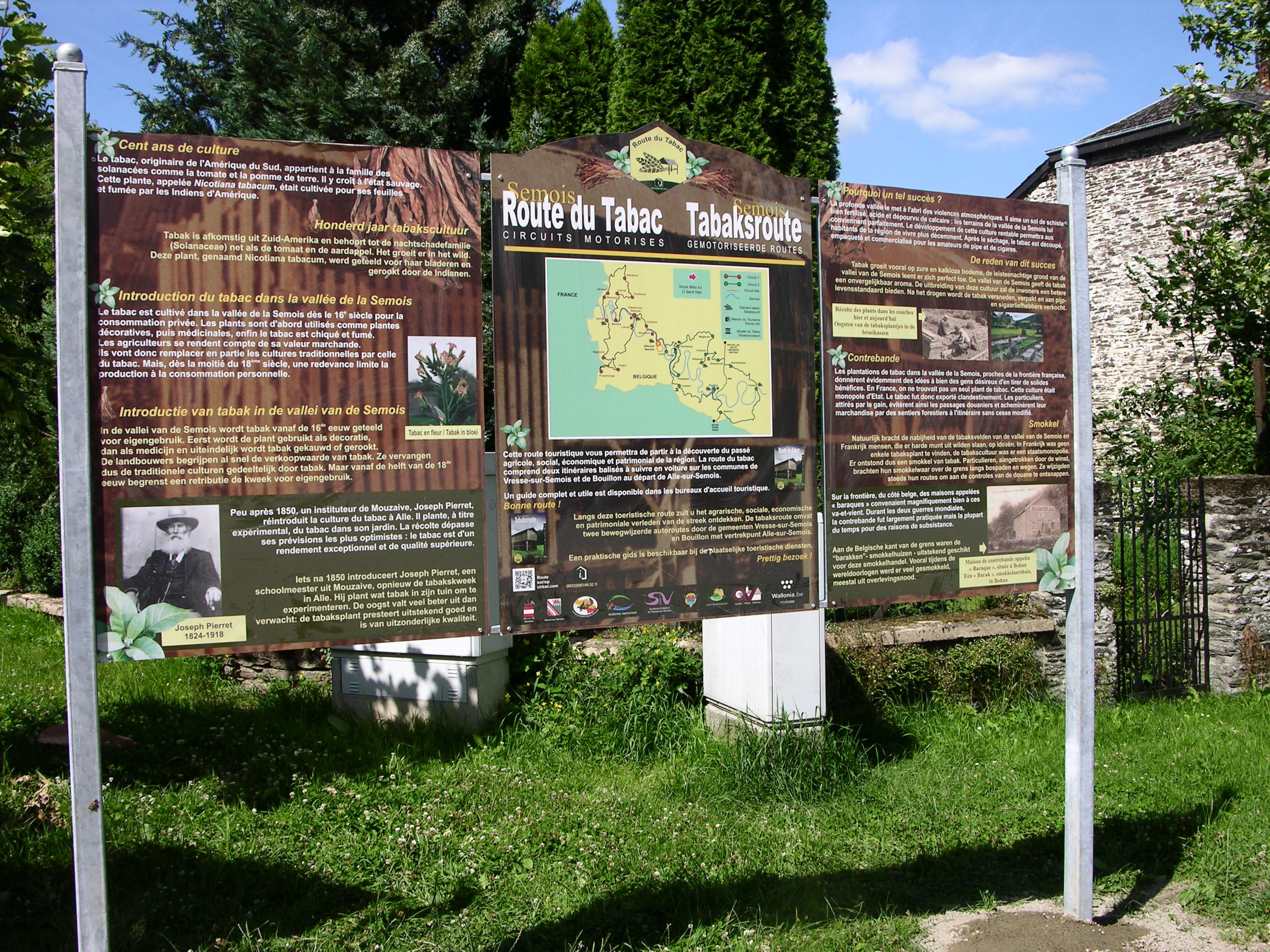 Route du Tabac - Triptyque à Alle-sur-Semois