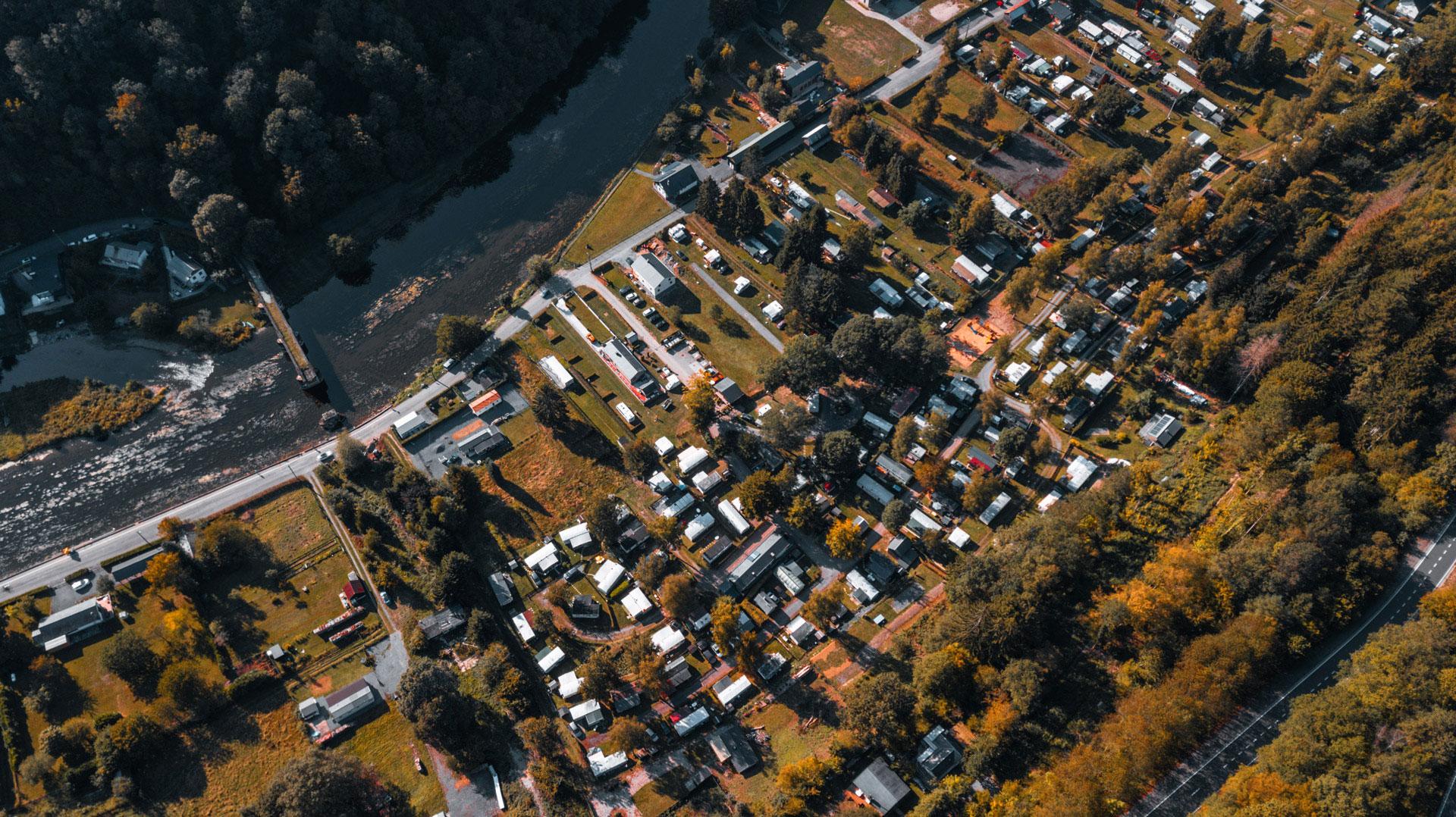 Camping des Bouleaux - Bohan - photo aérienne - Ardenne méridionale - Semois