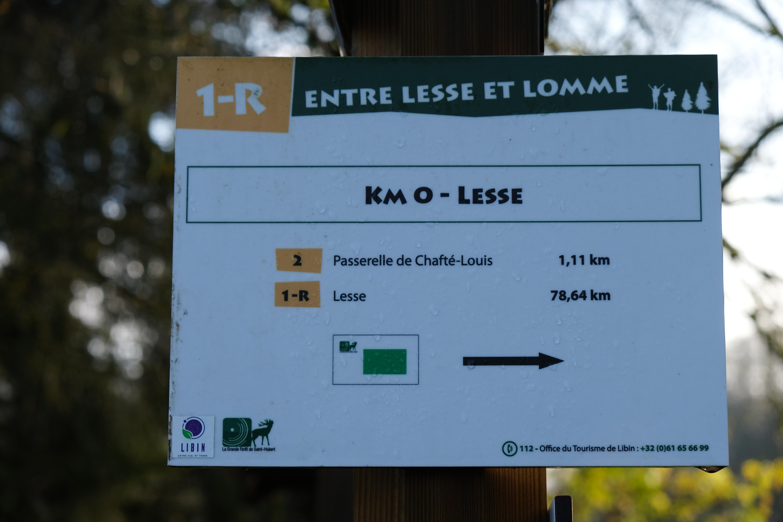 Entre Lesse et Lomme - itinéraire randonnée - Balisage - Lesse