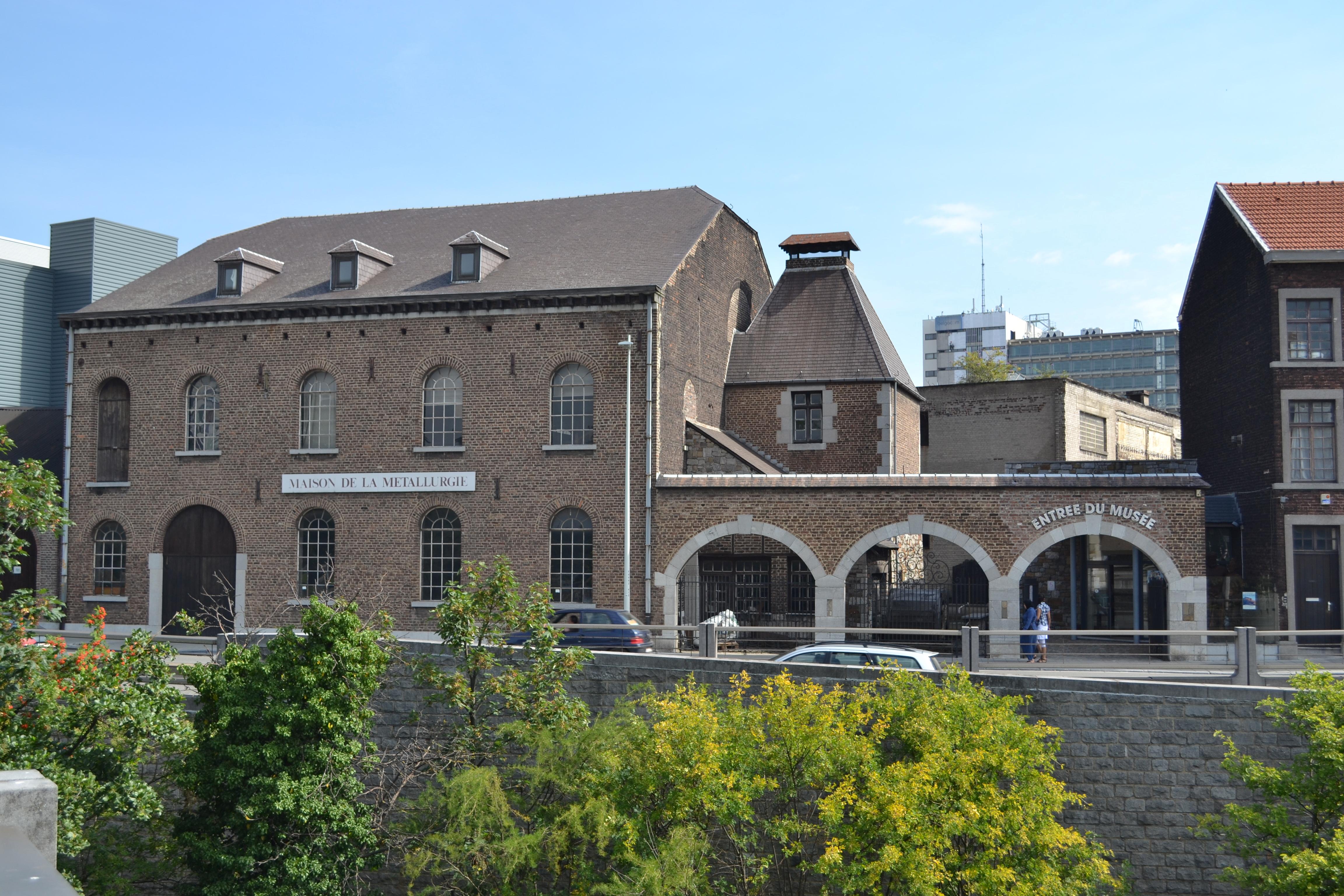 Musée de la métallurgie et de l'industrie - MMIL - Liège - Vue de la façade