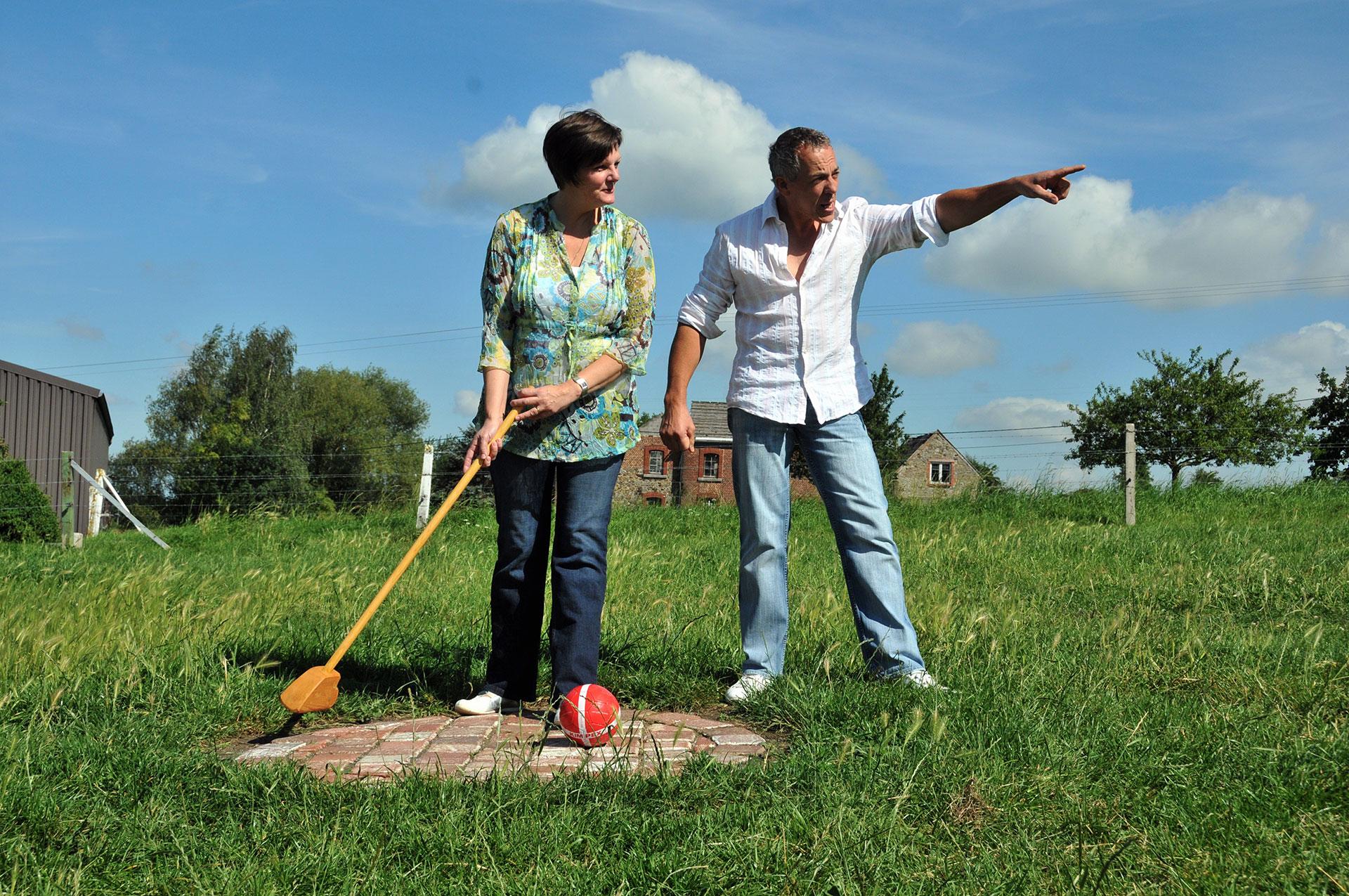 ferme de Gérard Sart - golf champêtre - Wallonie insolite