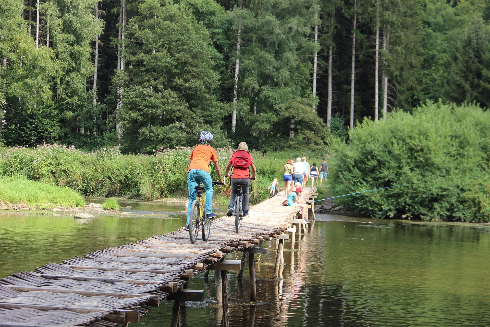 Parc naturel de l'Ardenne méridionale - Laforêt - pont de claies