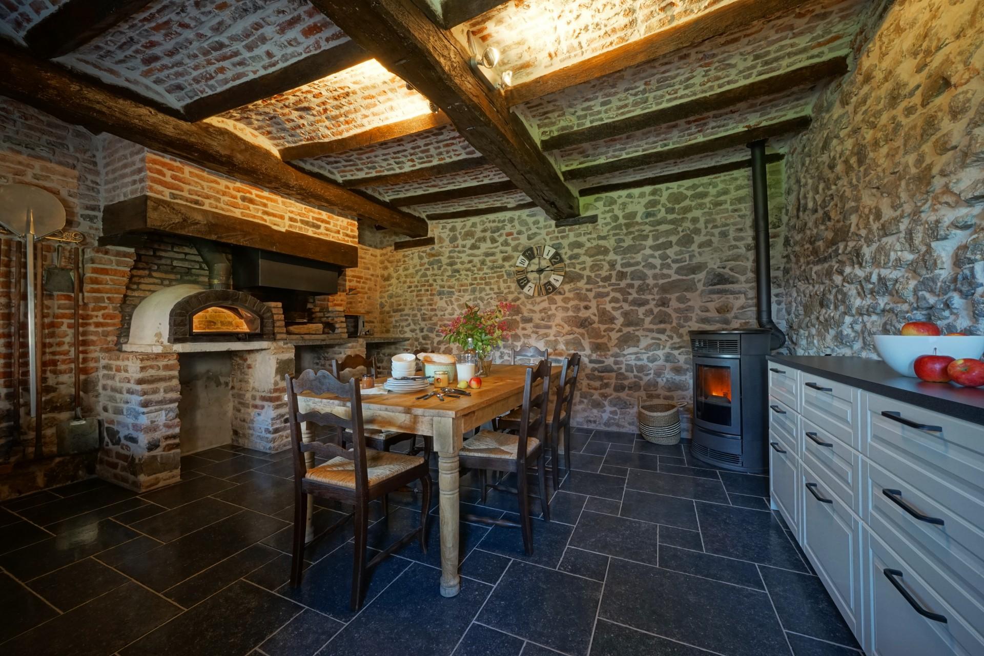 Gîte à la ferme-Le Fournil-Lens-Vue de la salle à manger