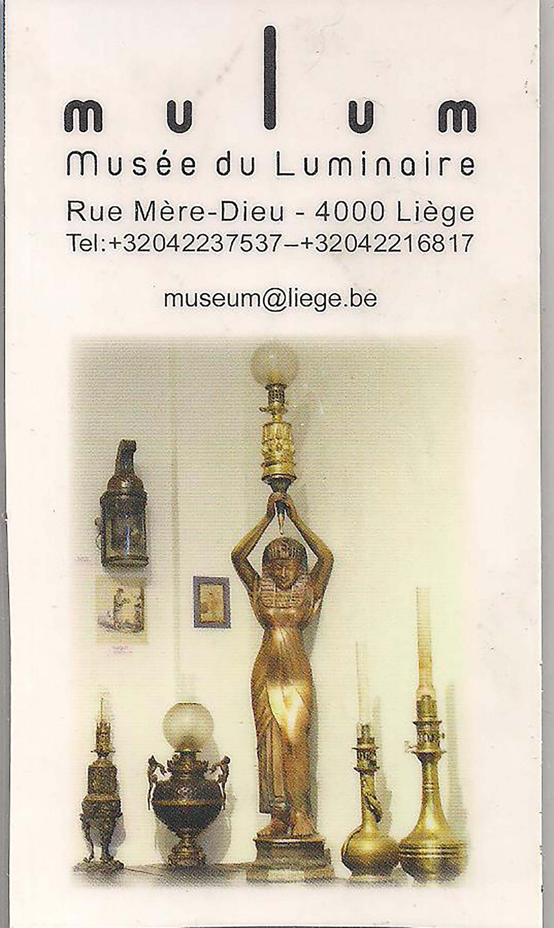 Musée - liégeois - Luminaire - Mulum - Affiche