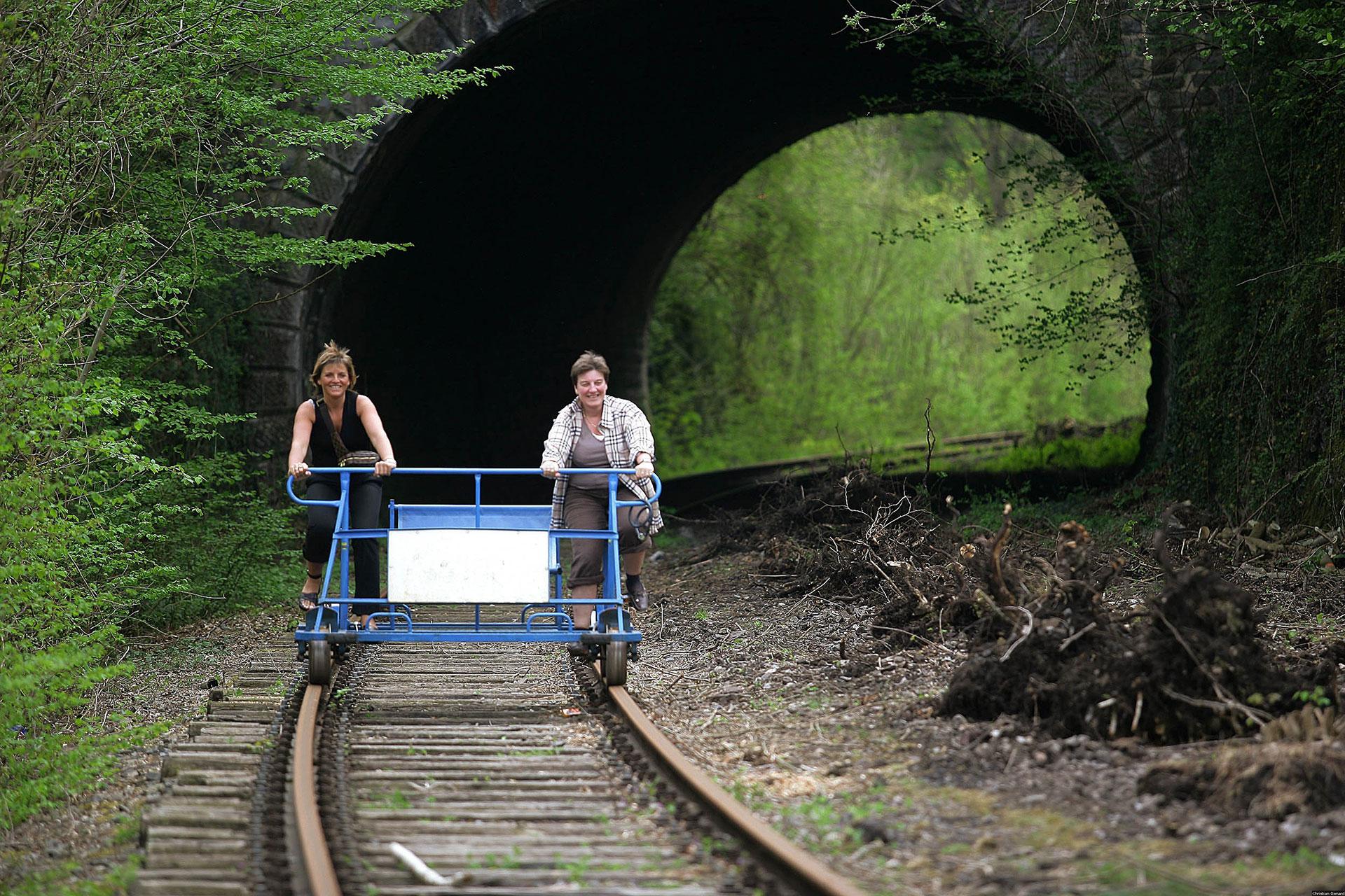 De spoorwegfietsen van La Molignée