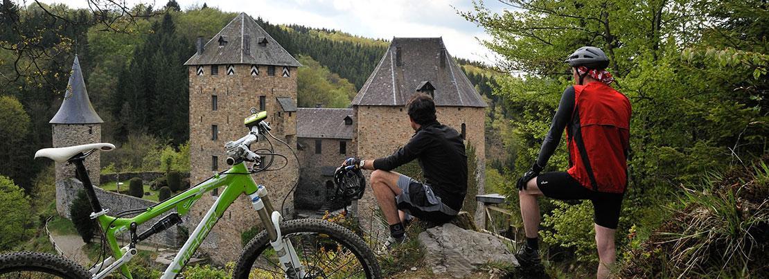 Balade châteaux - Château de Reinhardstein - Mountainbike