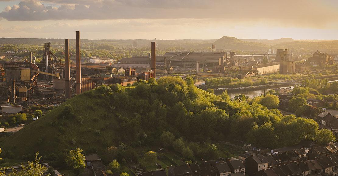 Charleroi - point de vue - paysage industriel - boucle noire