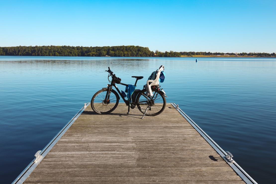 Balade familiale à vélo aux Lacs de l'Eau d'Heure