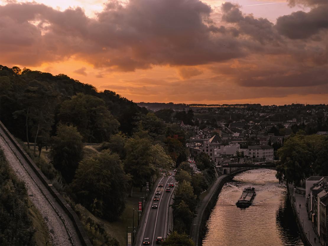 Namur - Coucher du soleil