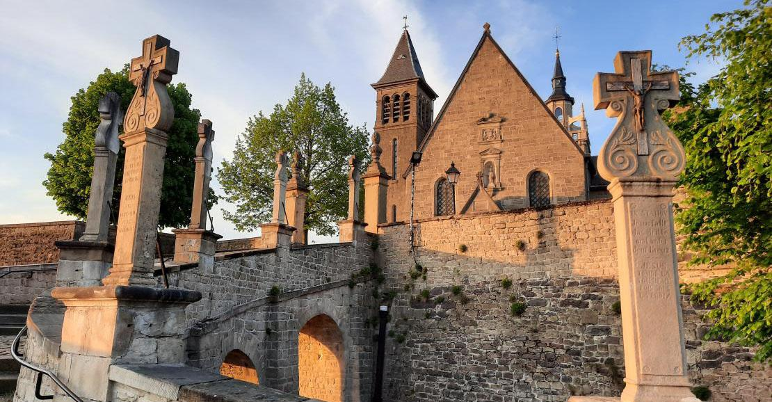 Eglise Saint-Donat - Arlon - Vue du chemin de croix