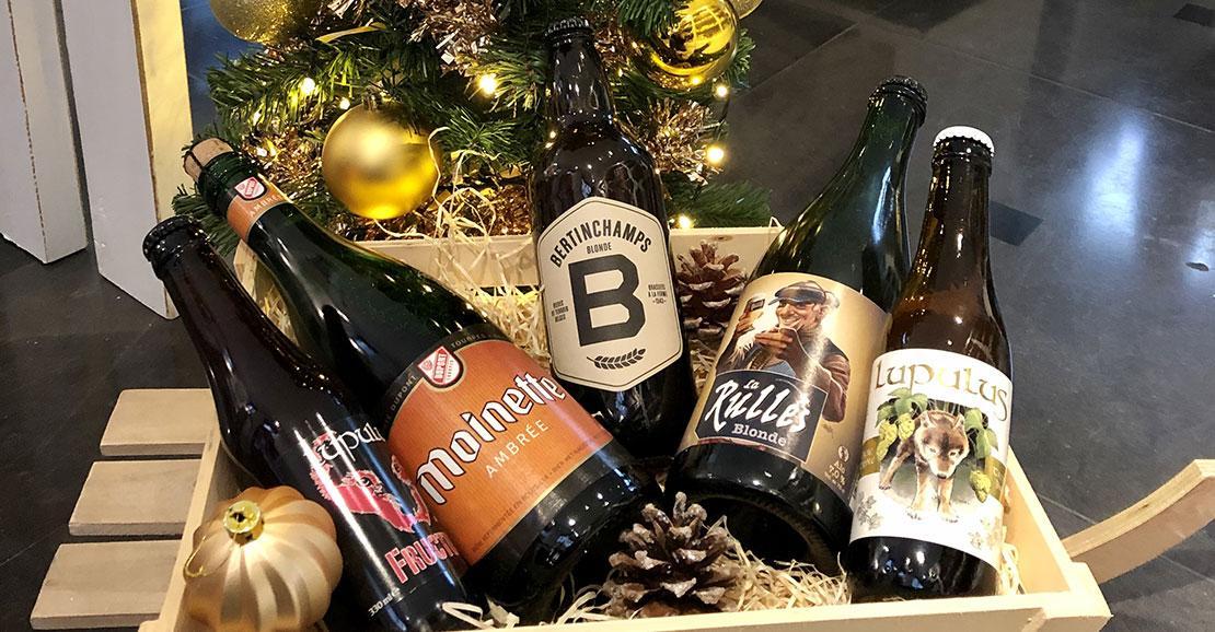 Bières de Noël - panier gourmand - lupus - moinette - bertinchamps - Rulles