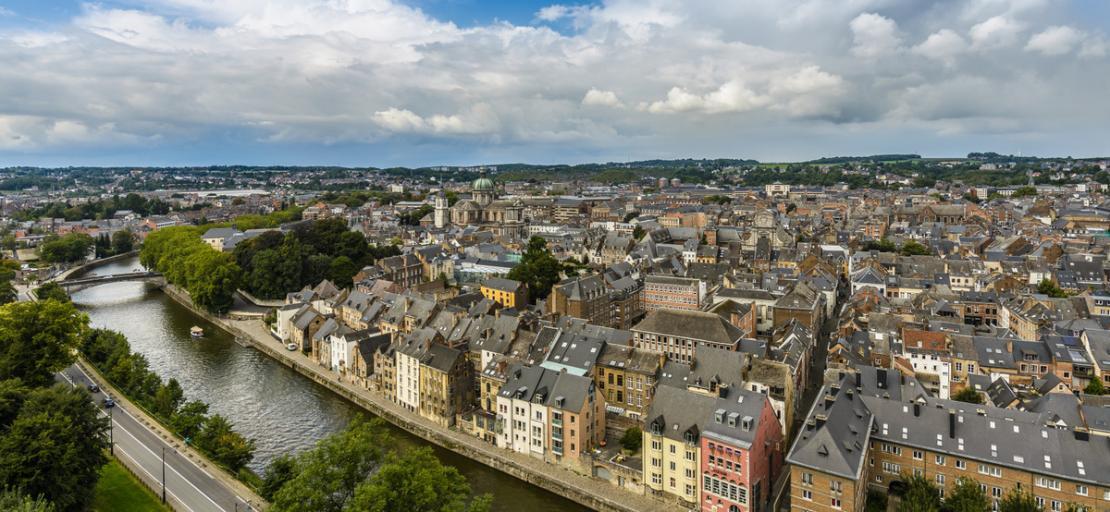 Panorama de Namur côté Sambre depuis la citadelle