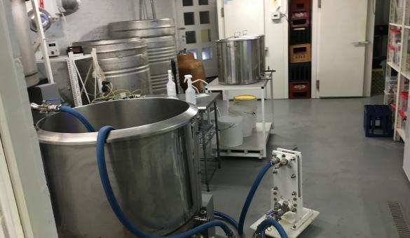 Brouwinstallaties van de artisanale brouwerij Hoppy in Soignies