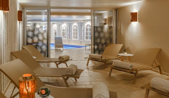 Espace détente et Spa de l'hôtel Quartier Latin à Marche-en-Famenne Wallonie