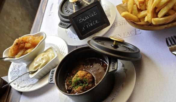 The restaurant 'Le Bistrot d'en face' invited you to discover its gastronomic dishes in Liege province