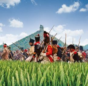 Reconstitution - bataille - Waterloo - Napoléon