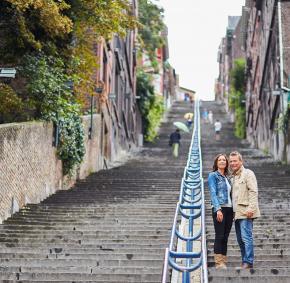 Liege - Escaliers - montagne de Bueren - Wallonie insolite
