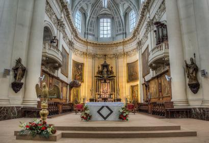 Cathédrale Saint-Aubain - édifice catholique - XVIIIème siècle - diocèse de Namur