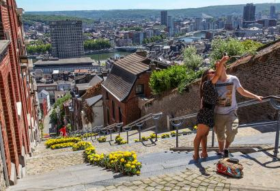 Liège - montagne de Bueren en-fleurs - Coteaux de la Citadelle