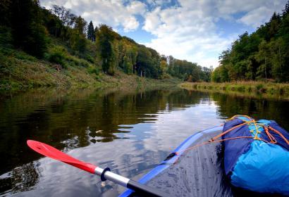Pack and- Raft - lac de Nisramont - barrage - eau - kayak