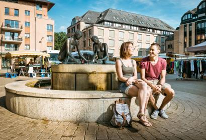Louvain-la-neuve - Place de L'université - Fontaine Leo