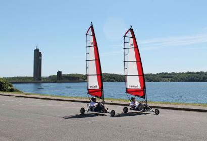 Boussu-lez-Walcourt - Red Crocodile Sails - char à voile - lacs de l'Eau d'Heure