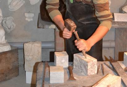 Musée du marbre - Sivry-Rance - Démonstration - travail du marbre