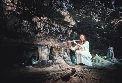 Visite musicale de la grotte, Han-musique au Domaine des Grotte de Han