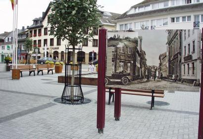 Balade - historique - St. Vith avant 1945 - bombardements - destruction - Bataille des Ardennes