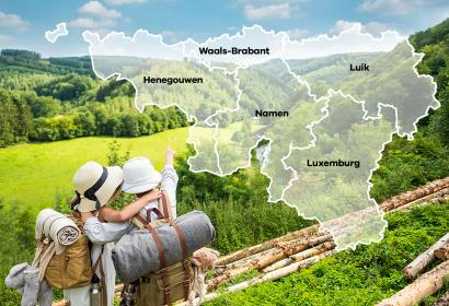 carte - points de vue - Wallonie - Provincies