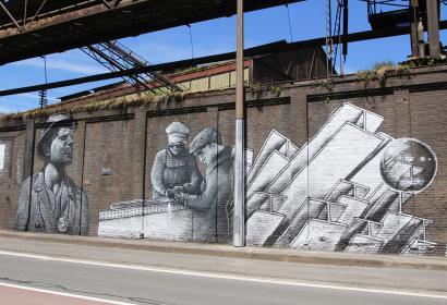Street Art - Itinéraire Porte Ouest – Métro aérien - Wallonie insolite