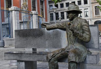 Statue - Georges Simenon - Liège