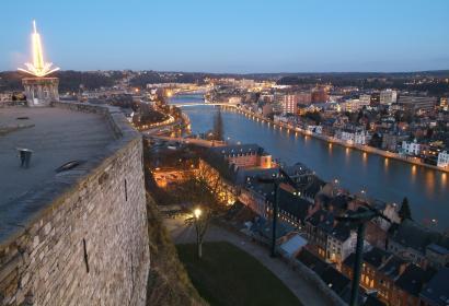 Citadelle de Namur- point de vue - nuit