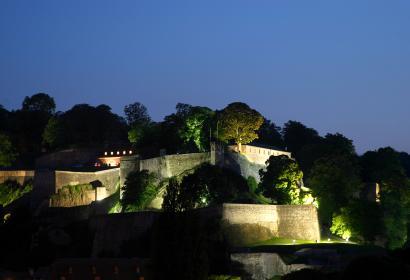 La Citadelle de Namur en mode croisière nocturne