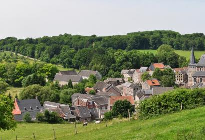 View of Soiron in the province of Liege. One of the Beautiful Villages of Wallonia.