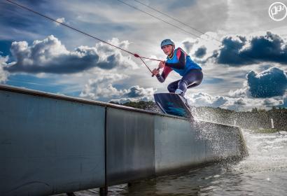 The Spin cablepark: de waterskilift van de Lacs de l'Eau d'Heure