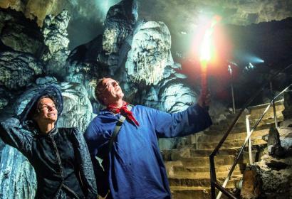 Die Grotten anno dazumal: l'Han-cienne in der Domäne der Grotten von Han