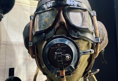 Masque respiratoire exposé à l'exposition