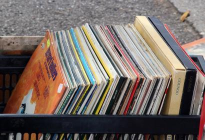 Marché aux puces - brocante - vinyl - disque