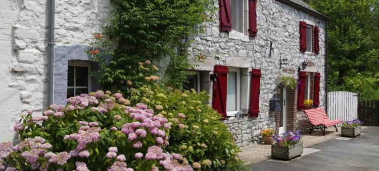 Vue d'une maison typique du village de Soulme, en Wallonie