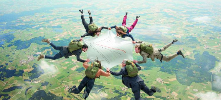 Parachutistes MICE en Wallonie