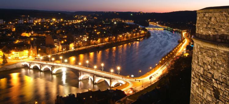 Namur - nuit - point de vue - Citadelle de Namur
