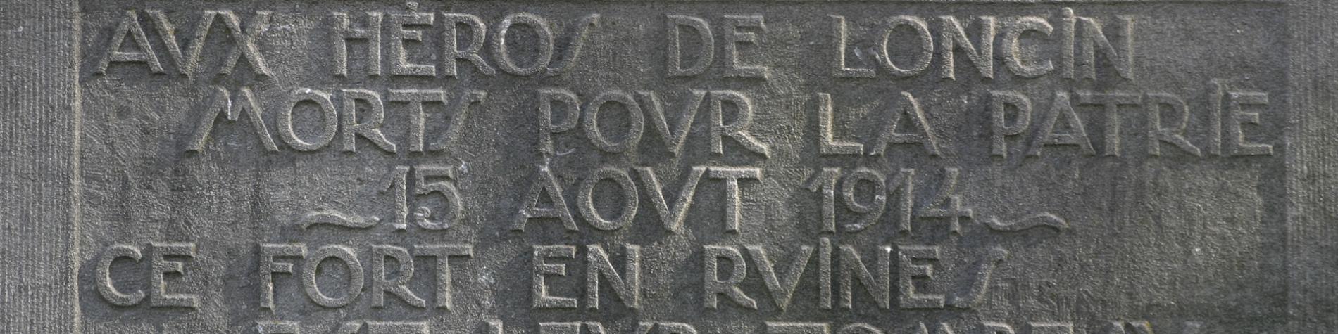 Hommage aux Héros de Loncin - Province de Liege