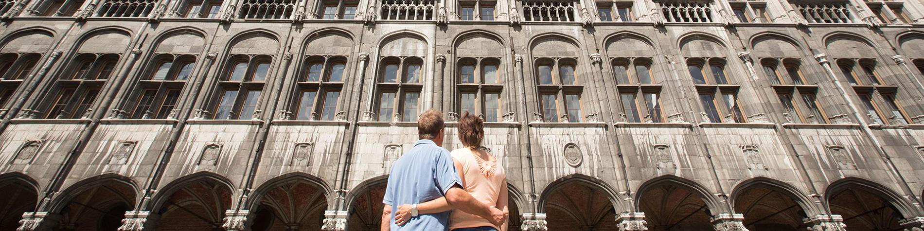 Liège - couple - Palais des Princes Évêque