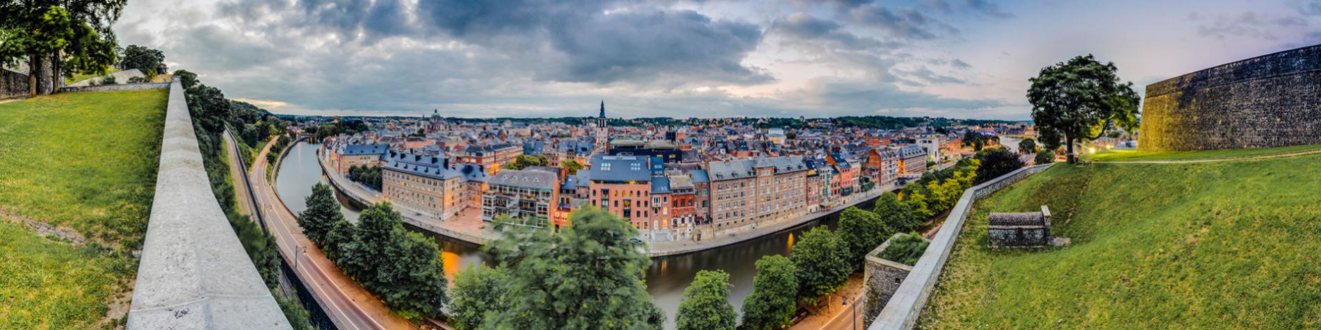 Namur - Sambre - Vue de la citadelle