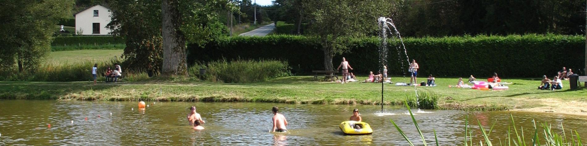 Domaine - lac de Cherapont - Pêche - baignade - Gouvy