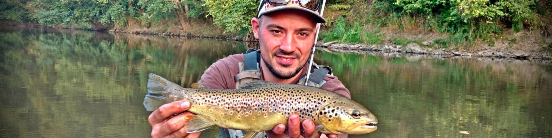 Pêche - mouche - rivière - Treignoise - Truite - poisson - Wallonie Terre d'Eau
